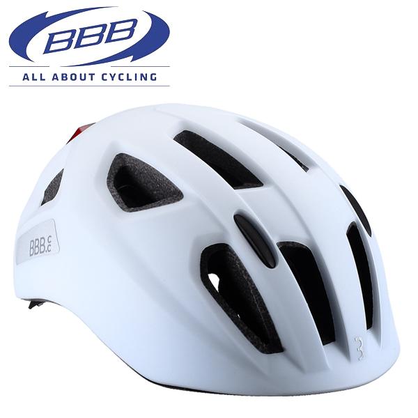 BBB ヘルメット ソナー [BHE-171] ホワイト Mサイズ(52-58CM) 子供 キッズ ヘルメット