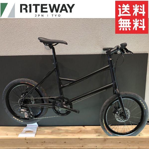 2020 RITEWAY GLACIER (ライトウェイ グレイシア) マットブラック ミニベロ