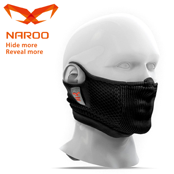 NAROO MASK (ナルーマスク) F5S ブラック 63F5SBLACK 花粉対応/スポーツ/フェイスマスク