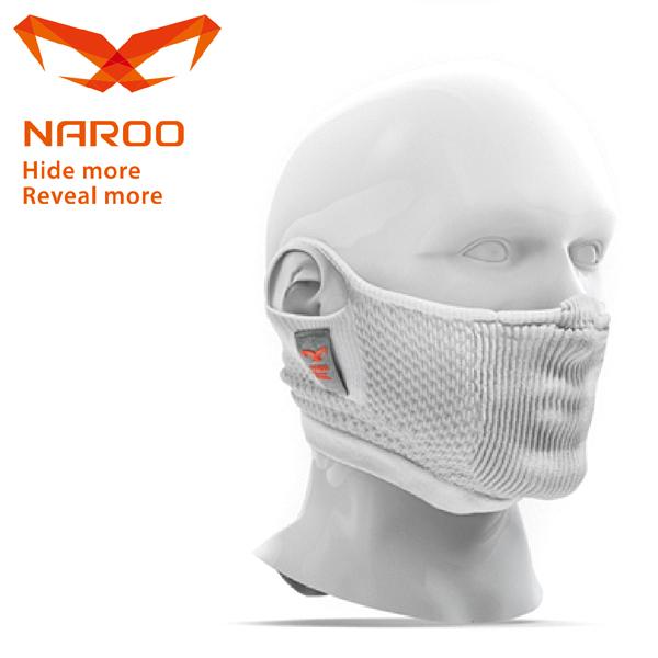 NAROO MASK (ナルーマスク) F5S ホワイト 63F5SWHITE 花粉対応/スポーツ/フェイスマスク