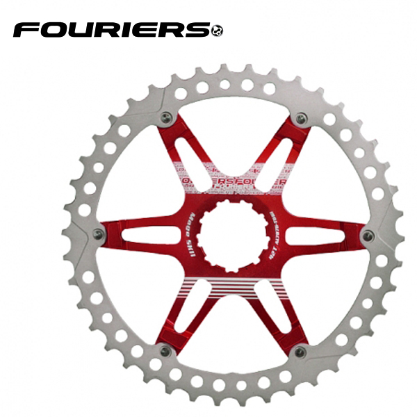 画像1: FOURIERS MTB スプロケット42T レッド (DX008-SK-423) 10600053 (1)