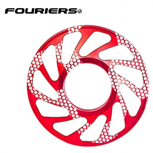 画像1: FOURIERS DHスプロケットスペーサー 最大ギア19T (DX003-1903) レッド 10601022 (1)