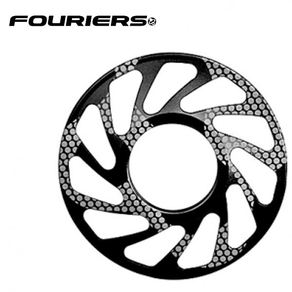 画像1: FOURIERS DHスプロケットスペーサー 最大ギア24T (DX003-2401) ブラック 10601031 (1)