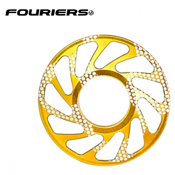 画像1: FOURIERS DHスプロケットスペーサー 最大ギア24T (DX003-2404) ゴールド 10601033 (1)
