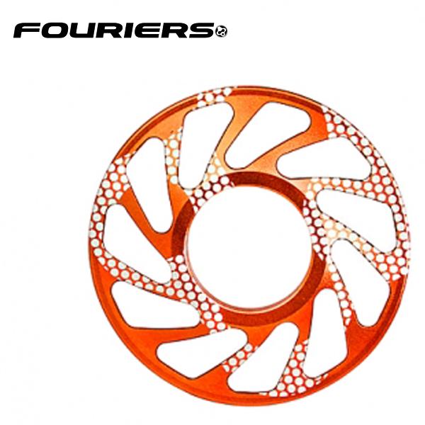 画像1: FOURIERS DHスプロケットスペーサー 最大ギア24T (DX003-2408) オレンジ 10601037 (1)