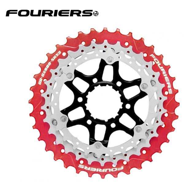 画像1: FOURIERS ROAD スプロケットセット (CR-DX008-SKX3-L363) レッド 10601001 (1)