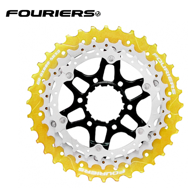 画像1: FOURIERS ROAD スプロケットセット (CR-DX008-SKX3-L364) ゴールド 10601002 (1)