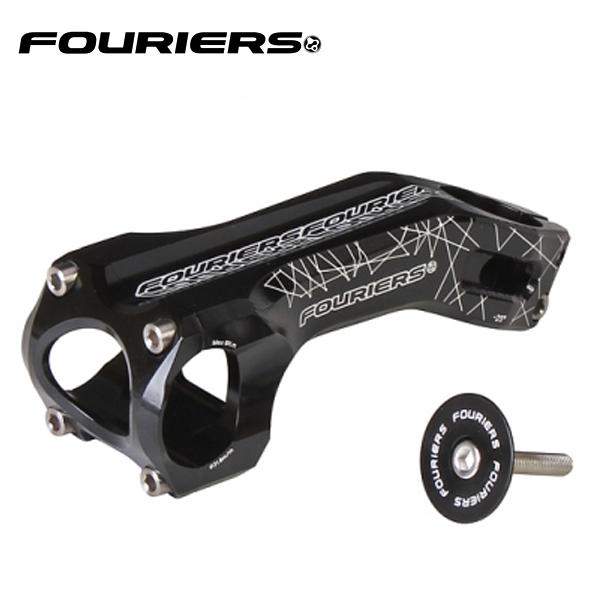 画像1: FOURIERS MTBステム SM-MB114-G25 80mm ブラック 10600841 (1)