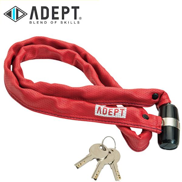 画像1: 自転車 ロック 鍵 ADEPT アデプト K311 RED LKW25801 (1)