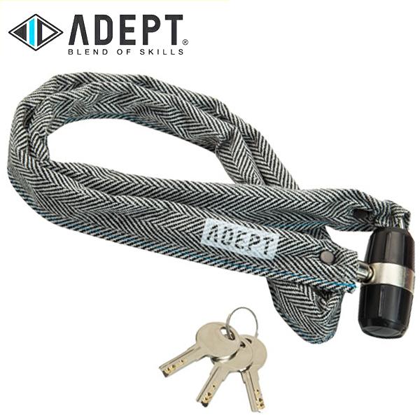 画像1: 自転車 ロック 鍵 ADEPT アデプト K311 ヘリンボーン LKW25803 (1)
