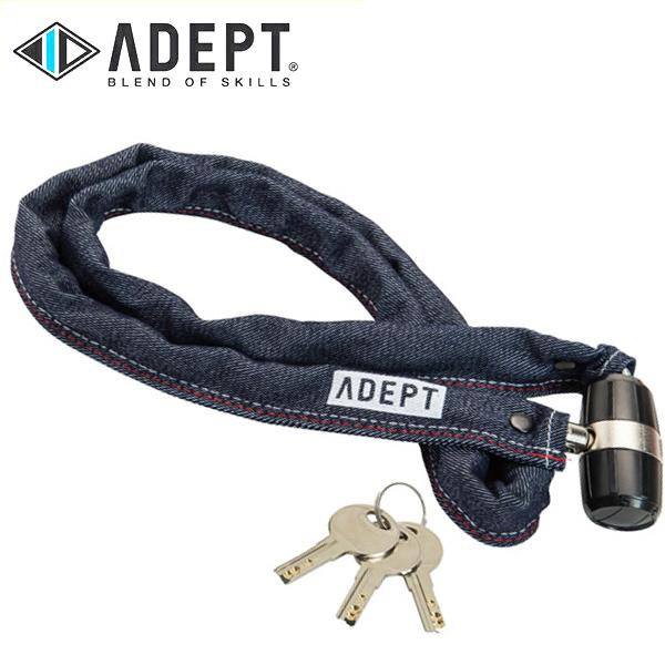 画像1: 自転車 ロック 鍵 ADEPT アデプト K311 デニム LKW25804 (1)