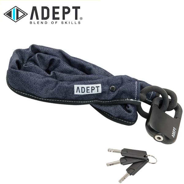 画像1: 自転車 ロック 鍵 ADEPT アデプト MOD 511 デニム LKW25904 (1)