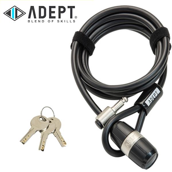 画像1: 自転車 ロック 鍵 ADEPT アデプト RAD 820 BLK LKW26200 (1)