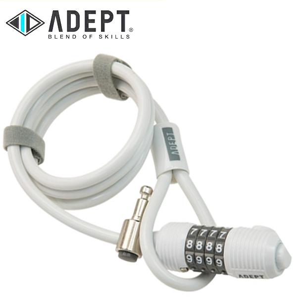画像1: 自転車 ロック 鍵 ADEPT アデプト WIZ 812 WHT LKW26301 (1)