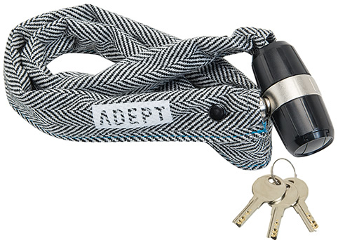 画像1: 自転車 ロック 鍵 ADEPT アデプト K307 ヘリンボーン LKW27103 (1)