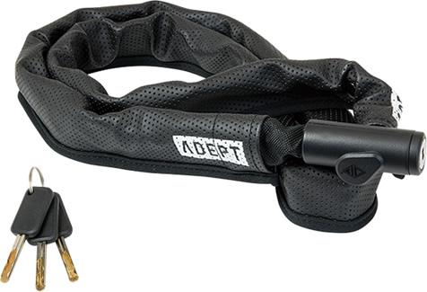 画像1: 自転車 ロック 鍵 ADEPT アデプト デュエ 411 BLK LKW29100 (1)