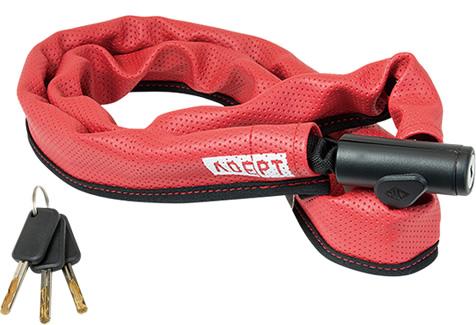 画像1: 自転車 ロック 鍵 ADEPT アデプト デュエ 411 RED LKW29101 (1)