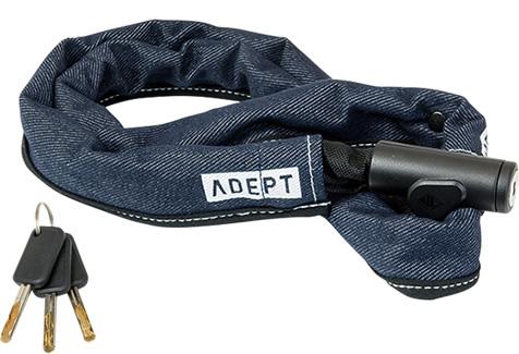 画像1: 自転車 ロック 鍵 ADEPT アデプト デュエ 411 デニム LKW29104 (1)