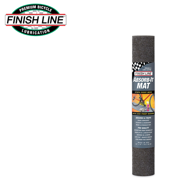 画像1: FINISH LINE フィニッシュ ライン アブゾーブ イット マット S (122x46cm) TOS11100 自転車 ケミカル (1)