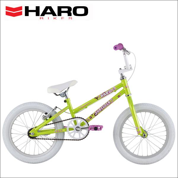 """2016 HARO BIKES SHREDDER 16""""GIRLS LEMON LIME 16インチ キッズ バイク 子供用 自転車"""